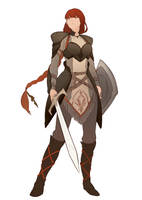 [Commission]Balca female warrior by 3four