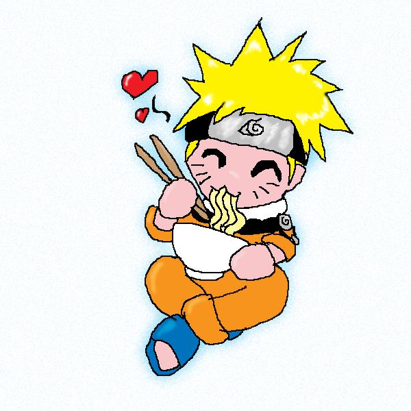 naruto eating ramen coloring pages - photo#6