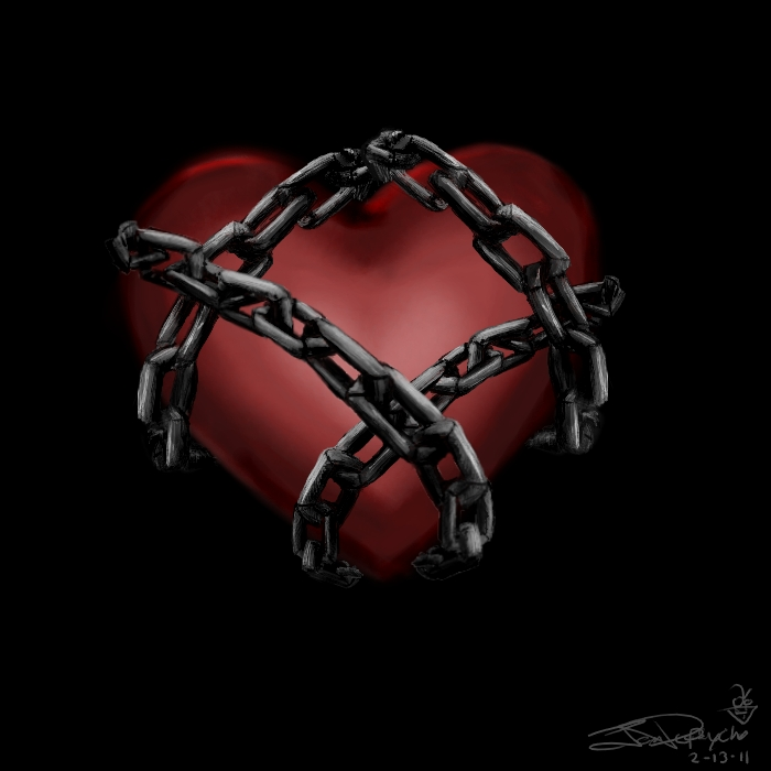Chained Heart by Depsycho on DeviantArt