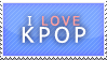 00056 I Love Kpop Stamp by Aitania