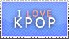 00056 I Love Kpop Stamp by Aitania