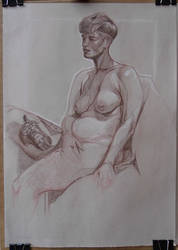 Life drawing of Anna by jgoytizolo