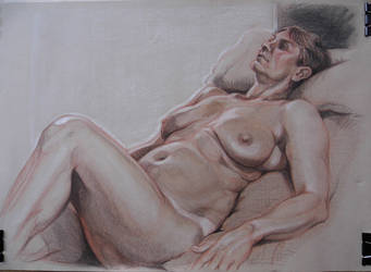 Life drawing of Beverley by jgoytizolo