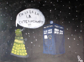 A Doctor Who Christmas Painting by Halekyn-Steel