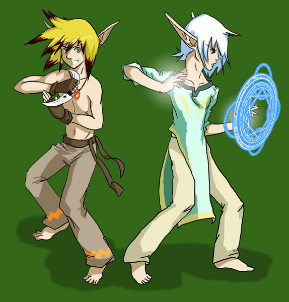 Adroc and Caz redesign done by EvelMash