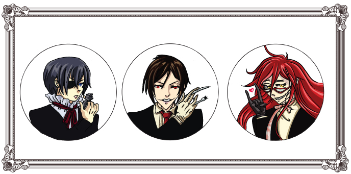 Black butler buttons by lithekitty