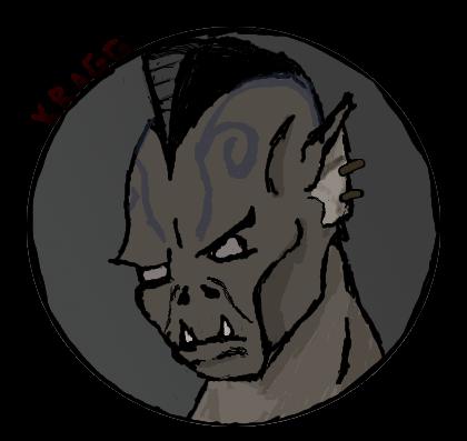 Kragg the half-orc Rogue by Lysanderdarkstar