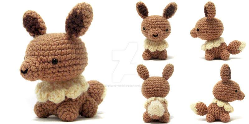 Amigurumi Crochet Pattern Etsy : Mini Eevee Amigurumi by icrochetthings on DeviantArt