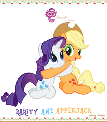 Rarity and Applejack (Remake Edition) by 123kennix