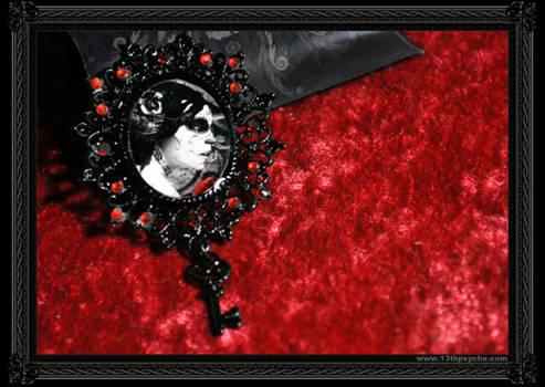 'Dark Rose' Brooch