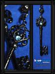 Blue Heart Key Necklace