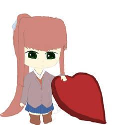 Need a Valentine - Doki Doki Monika 2-14-19 by robskind