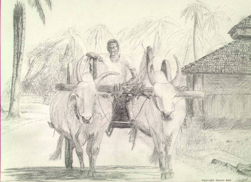 Bullock cart by gaurzilla on deviantart