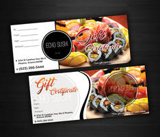 gift certificate by markkristoffer