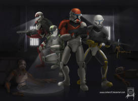 No one messes with Delta Squad by Mauricio-Morali