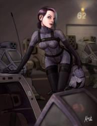 Female Mech pilot by Mauricio-Morali