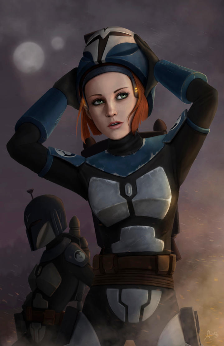 Bo-Katan and the night owls by Mauricio-Morali