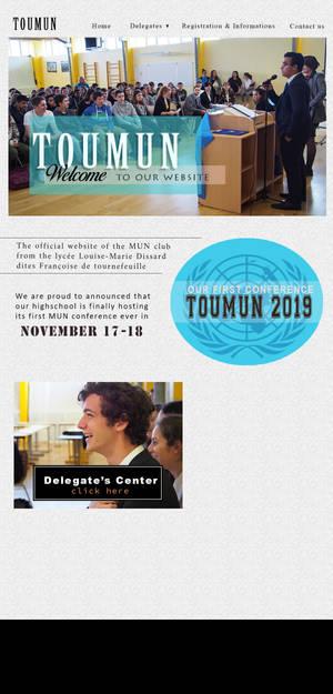 Visual TOUMUN Website