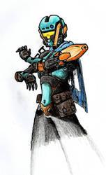 Destiny - female hunter idea by Tuftedplanelucy99