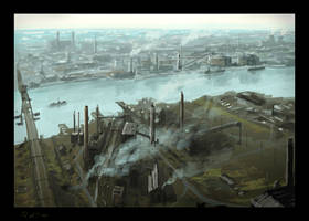 Industrial from above by Raphael-Lacoste