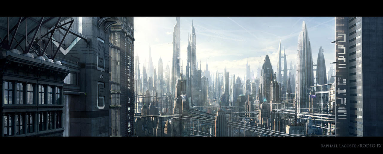 City View Matte Painting By Raphael Lacoste On Deviantart