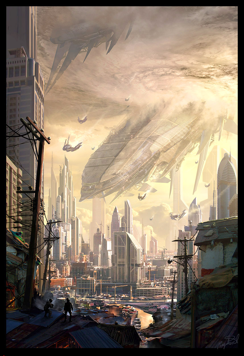 Crash Of The Mothership By Raphael Lacoste On Deviantart