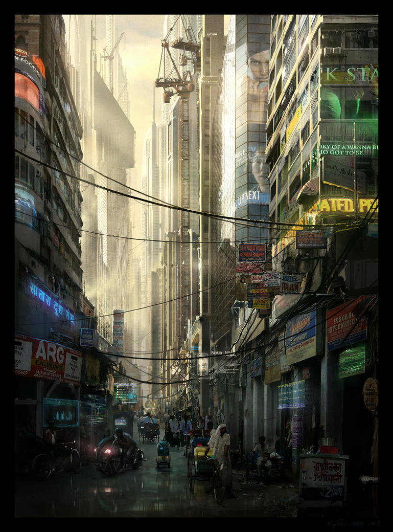 Futuristic Bombay by Raphael-Lacoste