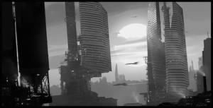 Skyline composition, Photoshop, 1 hour