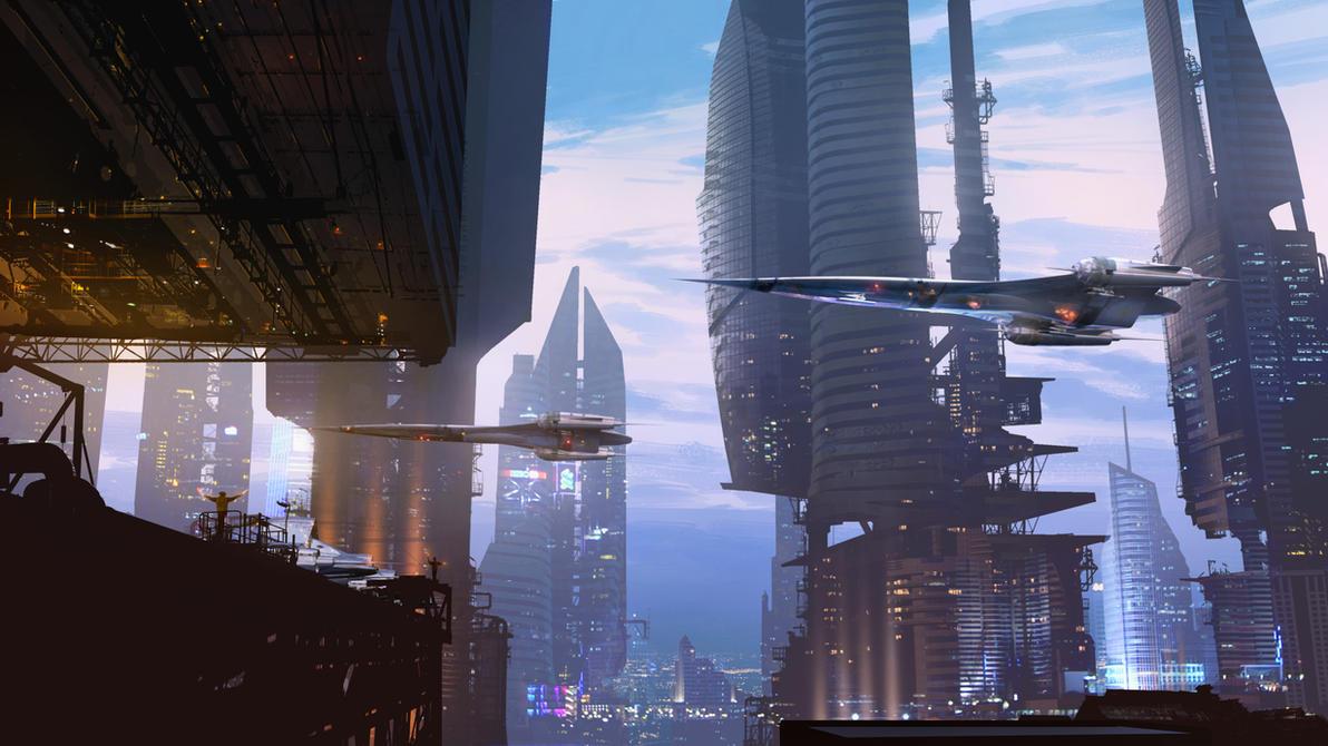 Landing Scene by Raphael-Lacoste