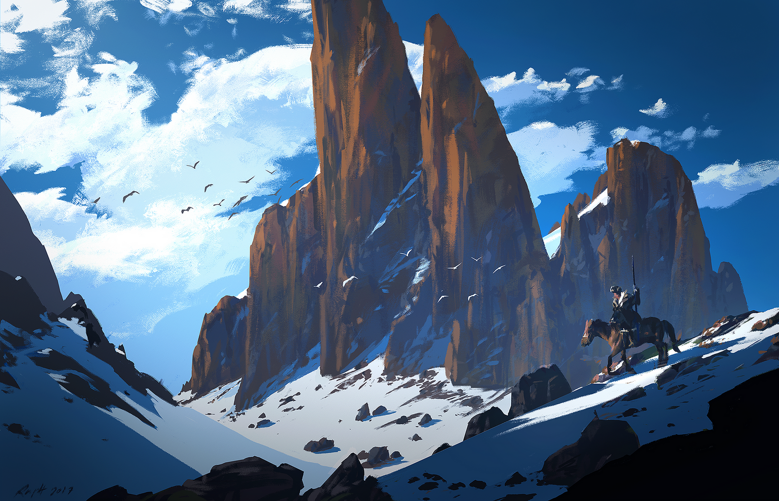 Mountain rider by Raphael-Lacoste
