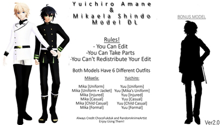 [MMD] MikaYuu V2 (Model DL) by RandomAnimeArtist