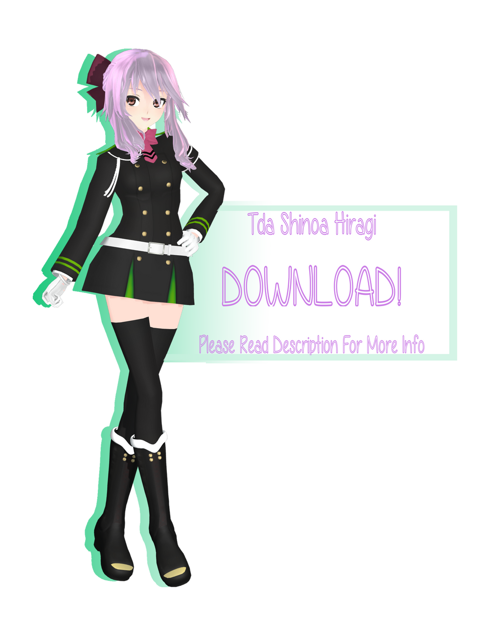 [MMD] Shinoa Hiragi [V2 Model DL] By RandomAnimeArtist On