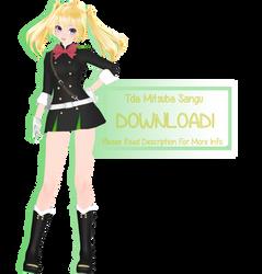 [MMD] Tda Mitsuba Sangu [MODEL DL] by RandomAnimeArtist