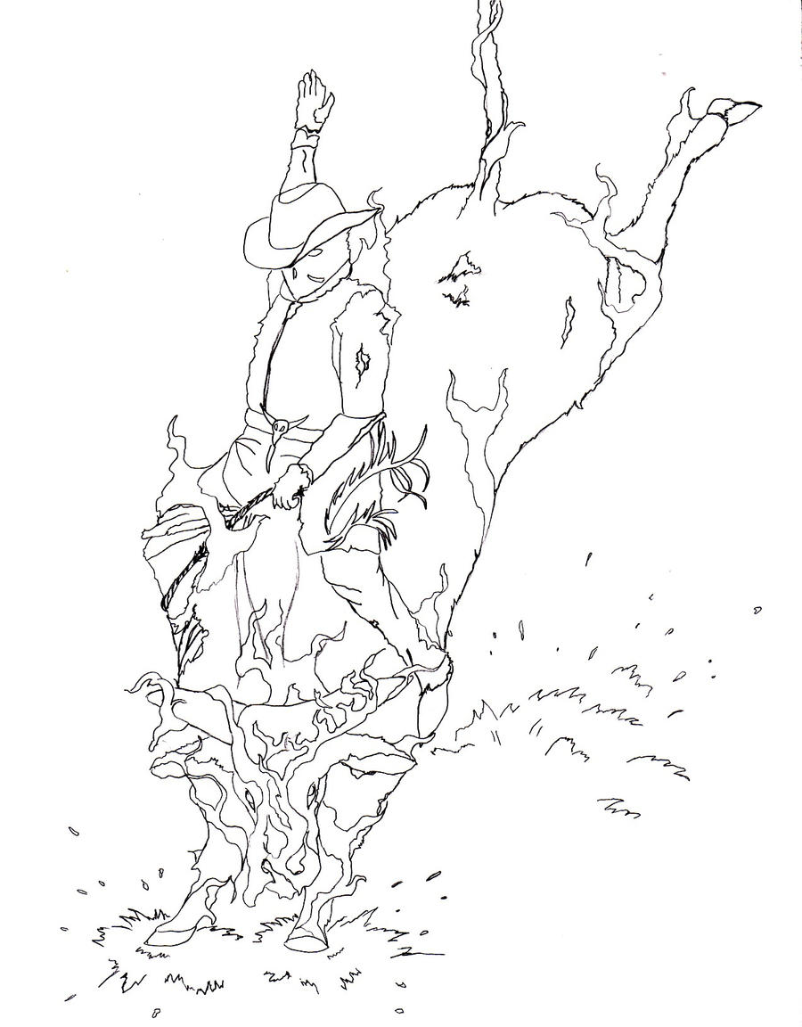 bronc rider coloring pages - photo#9