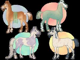 Pastel Cuties - 50pts each by Saorsa-x