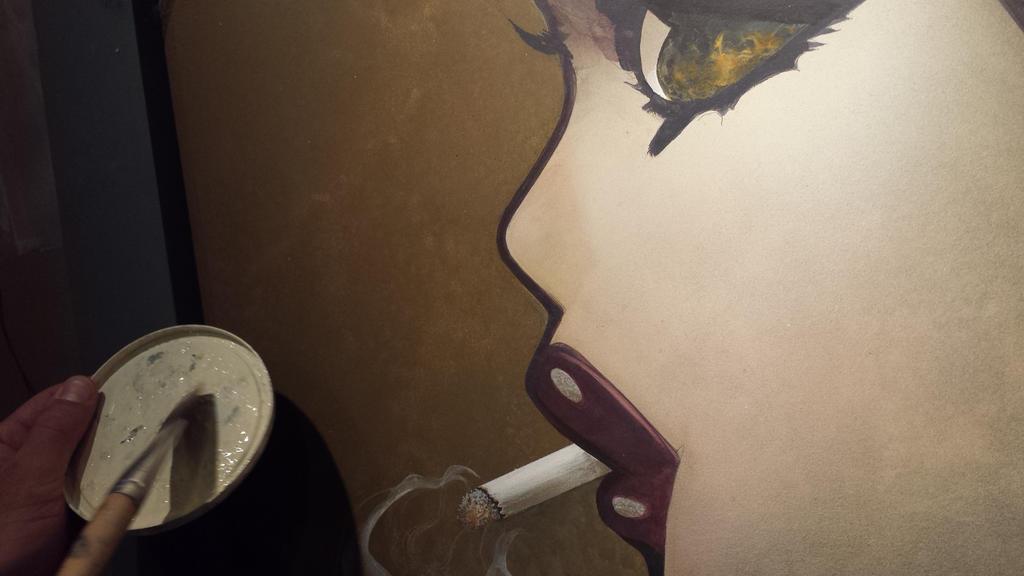 'Smoke Break' at Phantomoshop MKE w JG Jenson  by Phantomoshop