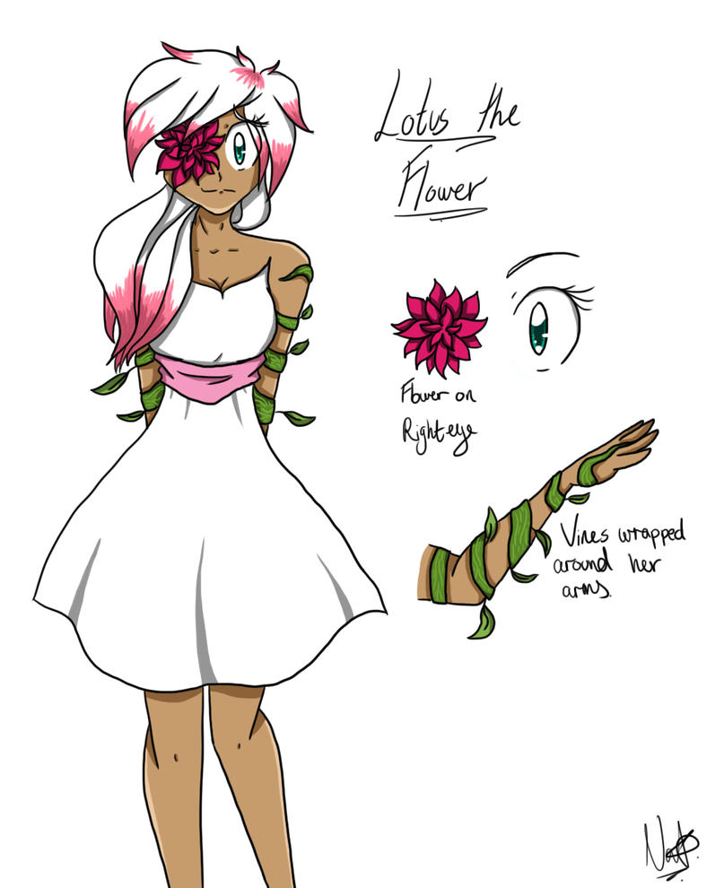 Oc Lotus The Flower By Bishie Kun On Deviantart