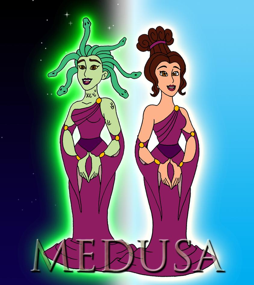 hercules vs medusa - 892×1000
