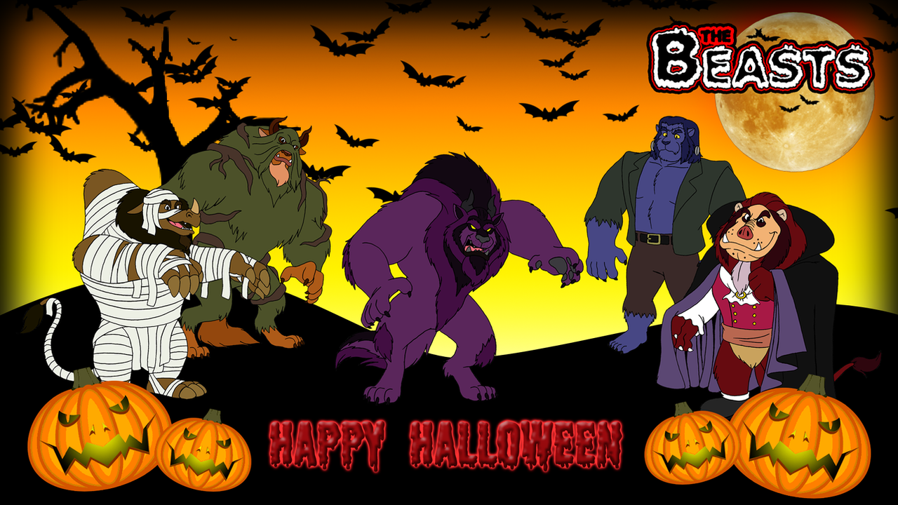 The Beasts - Halloween Wallpaper by BennytheBeast