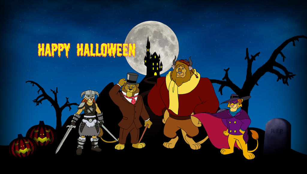 LKHFF Halloween Wallpaper 2013 by RetroUniverseArt
