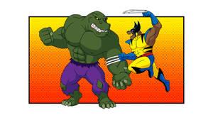 Marvel GEP - Armagator Hulk vs Prowl Wolverine