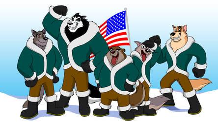 Commission - North Pole Dog Sled Team