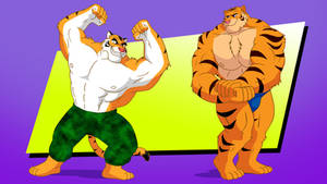 Commission - Macho Tigers by RetroUniverseArt
