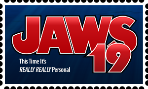 Jaws 19 Stamp by RetroUniverseArt