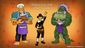 GEP Thanksgiving Wallpaper 2.0 by RetroUniverseArt