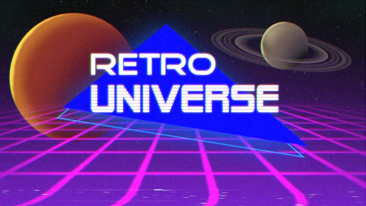 Retro Universe Wallpaper