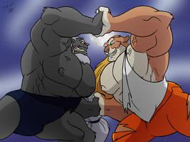Wolf vs Knox by RetroUniverseArt