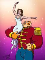 The Nutcracker Tiger Ballet by RetroUniverseArt