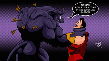 Gaston Meets Venom Benny by RetroUniverseArt