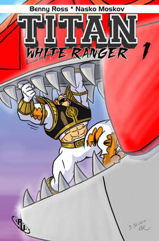 Titan : White Ranger Comic Cover